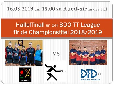 Halleffinall BDO League 2018/2019